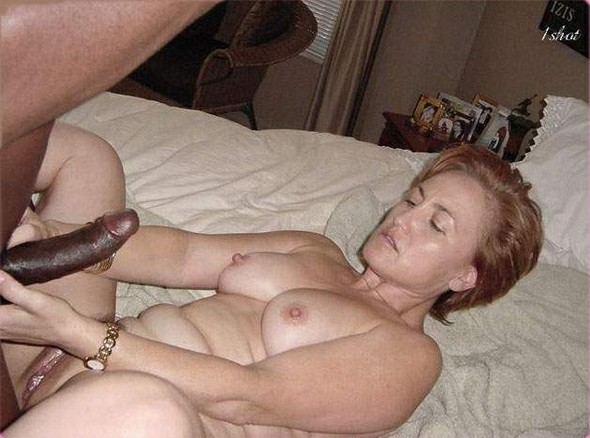 White wife pregnant by black cum